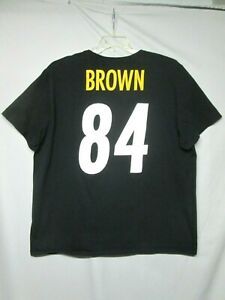 NFL Team Apparel Pittsburgh Steelers Antonio Brown Nike T-Shirt size 3XL