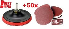"Backing Pad for 125 mm 5"" +50 SANDING DISCS + DRILL ADAPTOR POLISHING Velour"