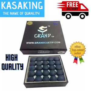 kasa High-Quality Fibre Blue Color Grand Snooker Cue Tips 10mm Medium Box Of 50