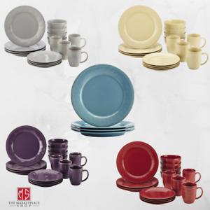 Cucina 16 Piece Dinnerware Set Service For 4 Multicolor