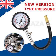 Car Motorcycle Tire Tyre Air Pressure Gauge Deflators Dial Meter Teater 0-100PSI