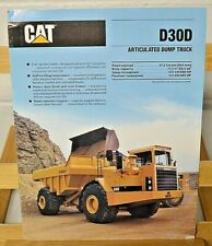 1989 Caterpillar D30D Articulated Dump Truck Sales Brochure