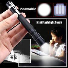 1pc Portable 2000LM  LED Zoom Pocket Flashlight Torch Mini Penlight New