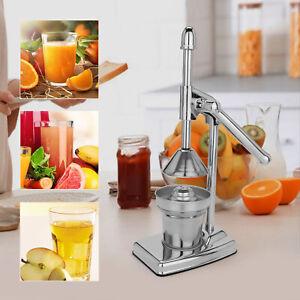 Saftpresse Zitruspresse Entsafter mit Hebel Orangenpresse Edelstahl Juicer