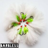 Barbless Hulk Cats Whiskers size 12 (Set of 3) Fly Fishing Flies Pulling