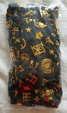 Loot Crate Wear Harry Potter Fantastic Beasts Gold Foil Symbols Fashion Scarf