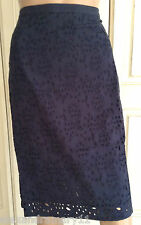 Gorgeous Boden Broderie Anglais Skirt 6 8 10 12 14 16 22 White Pink or Navy Blue