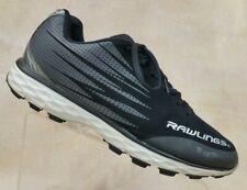 Rawlings Black Cleats Athletic Baseball Sports Lace Up Shoes Jin Jiang Men's 10