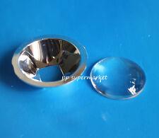 Diameter 44mm Lens 90-120degree + Lens Reflector for 10w led chip