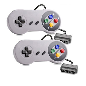 2 x Super Nintendo SNES System Gamepad Replacement Controller 6FT for SNS-005