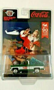 2021-M2 Machines-90 Years of Coca-Cola Santa-'73 Chevy Cheyenne Super 10-13+