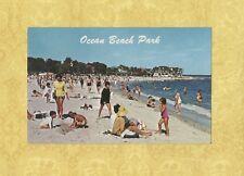 CT New London 1950-60s postcard OCEAN BEACH PARK people by Sedge Le Blang Conn