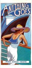 "Elaine Paige ""ANYTHING GOES"" Howard McGillin / Cole Porter 1989 London Flyer"
