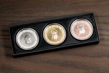 Cook Islands 2017 $5x3 Scarabs III – Solar Zenith 3x1oz Silver Proof Coins Set