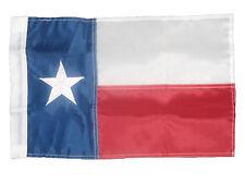 "12x18 Embroidered Texas SLEEVE Pole 210D Nylon Flag 12""x18"" garden MADE IN USA"