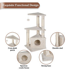33'' Cat Tree Tower Scratching Post Pet House Condo Scratcher Kitty Toys