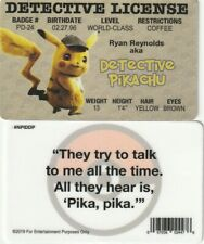Ryan Reynolds Police Detective Pikachu POKEMON fake ID i.d card Drivers License