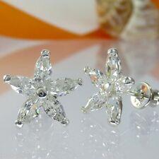 A089 Ohrringe Earrings 925 Silber Schmuck mit Swarovski Elements Kristalle