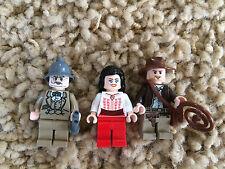 3 Lego Indiana Jones Marion Ravenwood Henry Sr. Jones Minfigures Lot 7 7195 7198