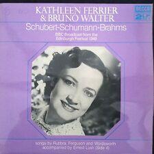 KATHLEEN FERRIER & BRUNO WALTER:Schubert / Brahms Decca 2LP  Edinburgh Fest 1949