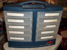 rare rubbermaid 10 sliding out drawer storage cabinet nuts bolts bin nails screw