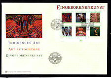 (Ref-6290) United Nations 2003 Indigenous Art - M/Sheet on a FDC (Vienna Office)