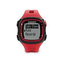 New Garmin Forerunner 15 GPS Fitness Sport Watch Large Red/Black 010-01241-01