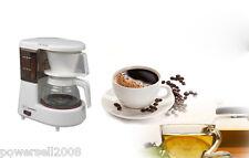 New Semi-Automatic Aluminum White Coffee Pot Mini Drip Coffee Maker Machine