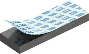 10m Rolle Moosgummi Selbstklebend 10x2 mm Zellkaukautschuk EPDM schwarz 1C16-12