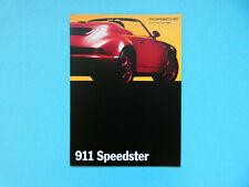 Prospekt / Katalog / Brochure Porsche 911 (964) Speedster  02/93