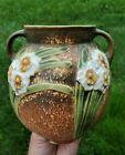 EXCEPTIONAL Vintage Roseville Pottery Jonquil Flower 2 Handle Bell VASE 540-6