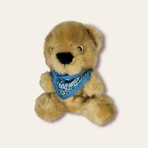 "Beariff The Sheriff Teddy Bear Plush Stuffed Animal Brown Vintage 1986 Avon 8"""