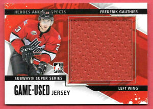 2013-14 Frederik Gauthier ITG In The Game Heroes and Prospects Jersey /160