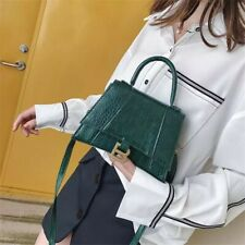 Balenciaga² Vintage designer crocodile tote crossbody shoulder hourglass B bag