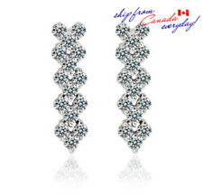 18K GP Classic Design Super Shining Cubic Zirconia Dangle Earring