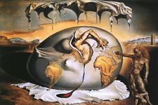 "Salvador Dali The Burning Giraffe Silk Cloth Poster 20x13"" 36x24"" Decor 23"