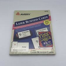 Avery Laser Microperforated Business Cards 2x 3 12 Ivory Pack Of 250 Sealed