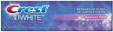 Crest 3D White Vivid Fluoride Anticavity Toothpaste, Radiant Mint 0.85 oz (6pk)