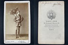 Grob, Paris, Scipion, (Ristou ?, dit), acteur Vintage cdv albumen print. CDV