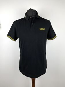Barbour International System Tipped Short Sleeve Polo Shirt Size Medium