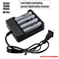 4 Slot LED Battery Charger For 18650 Li-ion Rechargeable Batteries Wall Adapter