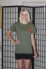 USMC School of Infantry T shirt - Olive Green - Mens Small