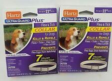 "Hartz Ultra Guard Plus Flea & Tick Dog Collar 22"" Neck 2pack"