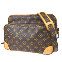 Authentic LOUIS VUITTON Nile Shoulder Bag Monogram Leather Brown M45244 81JC353