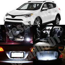10x LED Interior Lights Map Dome Trunk License plate Kit White for Toyota RAV4