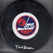 Ted Green Autographed Signed Winnipeg Jets Puck (JSA Authenticated) VERY RARE!!!