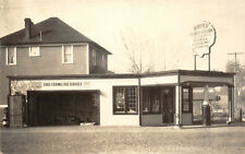 RPPC BRUER SERVICE STATION Roadside Shell Gas PM St. Helens, OR c1930s Postcard