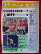 Cambridge United 2 Gateshead 1 - 2014 Conference play-off final - souvenir print