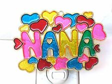 "STAINED GLASS STYLE ""NANA""  NIGHT LIGHT-GREAT GIFT FOR ALL OCCASIONS-UNIQUE!"