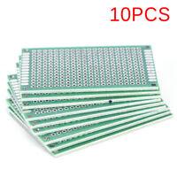 10PCS Double Side 3x7cm PCB Strip Board Printed Circuit Prototype Tr S!